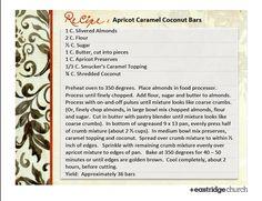 Apricot Caramel Coconut Bars