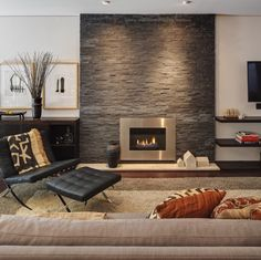 Idea for living room fireplace