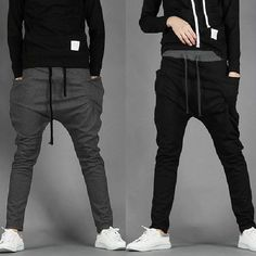 $17.59 / Men's Fashion Casual Skinny Taper Slacks Harem Pants via martEnvy. Click on the image to see more! FREE SHIPPING