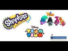 Shopkins, Tsum Tsum and Trolls Stampers! Shopkins, Innovation Design, Troll, Stamp, Disney, Youtube, Stamps, Youtubers, Disney Art