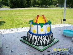 Cakes By Chris: Softball Graduation Cake