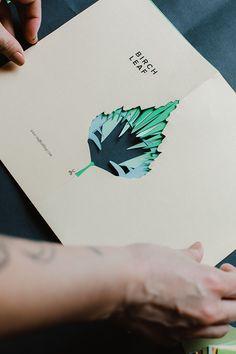 Free leaf printables for DIY cutout book