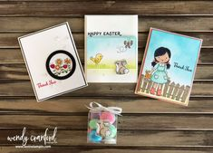 Garden Girl Thank You Cards Thank You Gifts, Thank You Cards, 3d Paper Crafts, Kids Cards, Happy Easter, Stampin Up, Craft Projects, Christmas Cards, Card Making