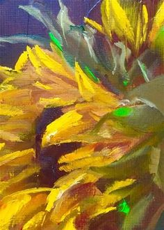 "Daily Paintworks - ""Sunflower Profile"" - Original Fine Art for Sale - © Gary Bruton"