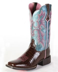 Ariat® Ladies' Tombstone Boots::Western::Pull-ons::Ladies'::Cowboy Boots::Fort Western Online. Maybe...like the colors somewhat