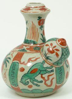 Ming dynasty Chinese glazed porcelain Kendi jar vessel
