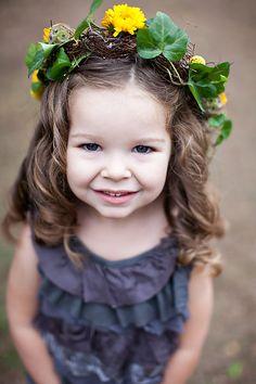 sweet floral crown- adorable flower girl!
