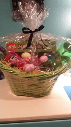 2015 pre filled minecraft easter basket gift bucket amazon my neighbor made kaitlyn this minecraft easter basket i thought that was so sweet negle Image collections