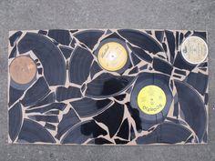 Vinyl Record Wall Art Hanging via Etsy