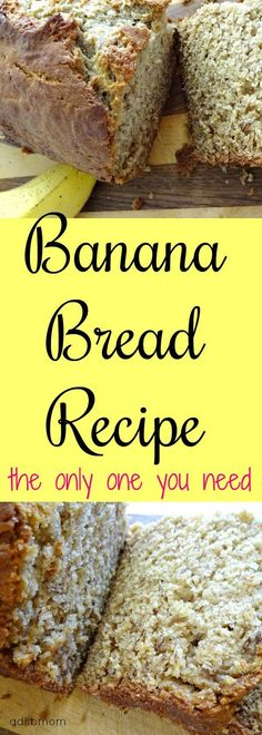 This banana bread recipe is perfect. It is perfectly moist, tender, has the right amount of banana flavor, and the perfect amount of sweetness. Breakfast Recipes, Dessert Recipes, Dessert Bread, Breakfast Ideas, Delicious Desserts, Yummy Food, Yummy Treats, Tasty, Best Banana Bread
