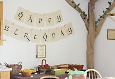 Gabe's 11th. (Happy Birthday sign. free downloaded fonts in Hobbiton and Ringbearer)