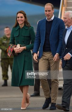 Catherine Duchess of Cambridge and Prince William Duke of Cambridge arrive at Whitehorse Airport on September 27 2016 in Whitehorse Canada Prince...