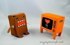 Domo kun nhk mascot watching tv