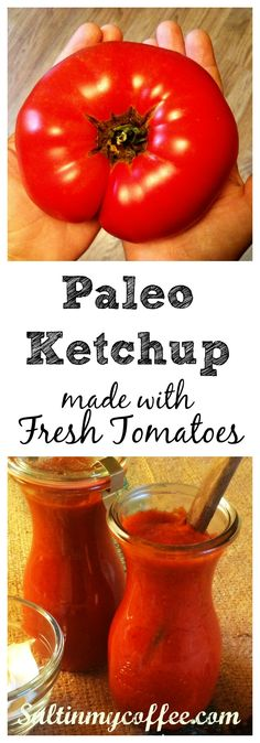 "A good, authentic ketchup taste, and made from fresh tomatoes, not paste. No one will miss the ""real stuff"", and they sure won't want to go back!"