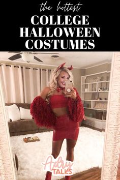Looking for the hottest and best Halloween costumes for college girls? Here are the best, and easiest Halloween costumes that you can DIY for your Halloween college parties! Here are DIY Halloween Costumes, Halloween costumes ideas, and college parties costumes! #halloweencostumeideas #halloweencostumesforcollege Last Minute Halloween Costumes, Halloween Diy, Halloween Makeup, Halloween Decorations, Halloween College, Halloween Recipe, Halloween Couples, College Parties, College Girls