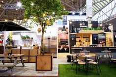Turning an exhibition booth into a relaxing terrace for visitors to enjoy. More @ tausch.com