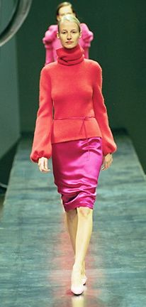 Hot pink and coral pink by Alber Elbaz for YSL A/W 1999/2000