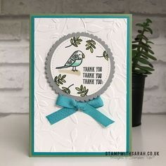 How to colour Bird Banter stamp set with Stampin' Blends from Stampin' Up! – Shop for Stampin' Up! UK | Sarah Berry