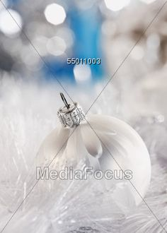 Silver & White #Christmas Tree Ornament #StockPhoto