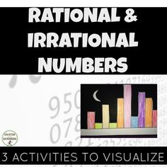 Pi Day: Irrational vs. Rational Numbers is a set of 3 hands-on activities to engage students in the difference between rational and irrational numbers. Ideal for math centers or to provide students choice in exploring number concepts, the three activities included here help students truly comprehend the difference between irrational and rational numbers, without simply memorizing definitions.