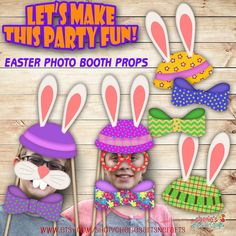 Hey, I found this really awesome Etsy listing at https://www.etsy.com/listing/252405153/easter-party-photo-booth-props-party