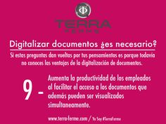 [ Digitalizar Documentos ¿Es Necesario? ] Tips de porque es buena la digitlatización Yo Soy #TerraFerme www.terra-ferme.com