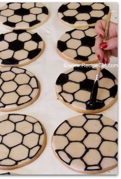 How to Make Soccer Ball Cookies | Recipe Girl. These take a while to make and quite a bit of effort, but an amazing result!