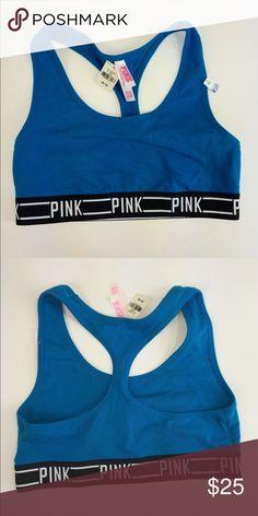 VS blue crop top sports bra ✨💕🎀 VS blue crop top sports bra ✨💕🎀 (M) PINK Victoria's Secret Intimates & Sleepwear Bras