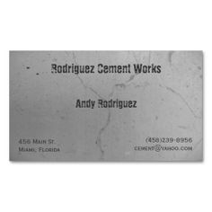 Cement Business Card. This is a fully customizable business card and available on several paper types for your needs. You can upload your own image or use the image as is. Just click this template to get started!