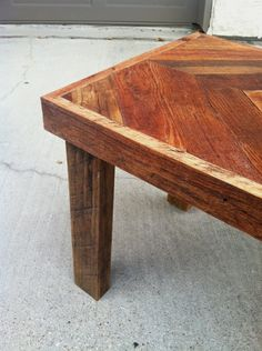 Chevron coffee table (DIY? with hairpin legs instead)