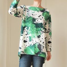 Kleksy zielone Bluza