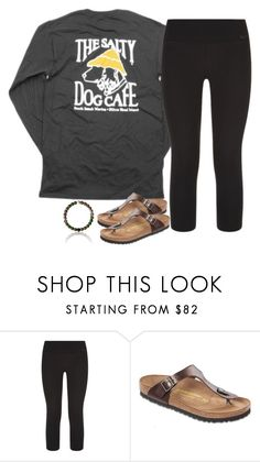 """""""Untitled #1603"""" by southernstruttin ❤ liked on Polyvore featuring Hanes, NIKE and Birkenstock"""