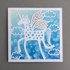 Silhouette UK: Speedy Unicorn Card with Adhesive Cardstock