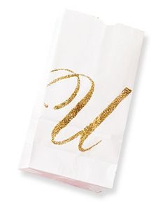 Transform an ordinary paper bag with glitter and a stencil