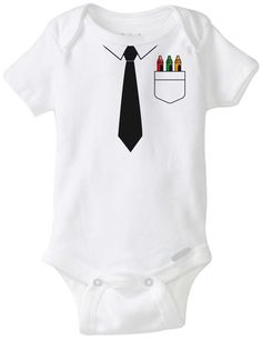 Bebé con crayolas. Corbata