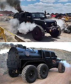 """""""Loco Hauk"""" is an incredible steam powered Jeep JK 6 Wheeler - джипÑ . - """"Loco Hauk"""" is an incredible steam powered Jeep JK 6 Wheeler – джипы – - Jeep Jk, Jeep Wrangler, Jeep Truck, Jeep Cars, 4x4 Trucks, Diesel Trucks, Custom Trucks, Cool Trucks, Jeep Cherokee"""