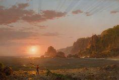 Frederic Edwin Church, L' isola di Grand Manan, baia di Fundy, 1852 olio su tela, cm 53,8 x 79,5 Hartford, Wadsworth Atheneum Museum of Art The Gallery Fund