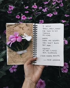 — dear mental health // poetry + art journal by noor unnahar  journaling ideas inspiration, artsy aesthetics tumblr hipsters indie grunge scrapbooking floral flowers dark, instagram teens craft diy photography, writing handwritten, words quotes inspiring