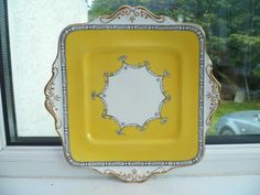 Lovely Vintage Paragon China Cake OR Sandwich Plate Yellow 8126 | eBay