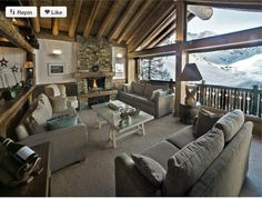 Chalet style living area
