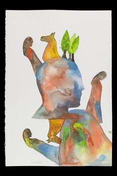 Fabrizio Barsotti Figure Acquarello su carta cm 56x38 www.livinart.it