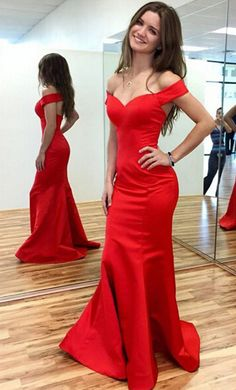 red prom dresses, mermaid prom dresses, off the shoulder prom dresses, dresses for women, women's dresses, 2016 prom dresses, prom dresses 2016, sexy prom dresses dressywomen.com