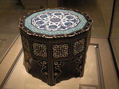 WLA vanda Ottoman marquetry and tile-top table 2 - Islamic art - Wikipedia, the free encyclopedia