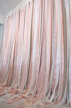 Vintage Ribbon Backdrop Garland For Weddings By JessicaAnnBoutique