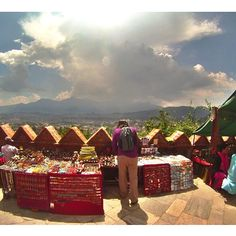 Nepalis handicrafts with a breathtaking view.