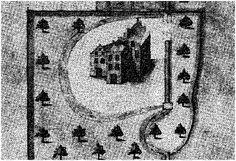 de enige afbeelding die bekend is van de blauwe kamer (Nude bij Wageningen) komt van een landkaart van H.Ruijsch uit 1636