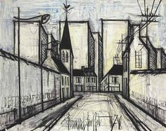 Bernard Buffet (* Juli 1928 in Paris; † Oktober 1999 in Tourtour, Provence-Alpes-Côte d'Azur). Art & Artist of the Day. Favorite artworks by artists we admire. Recommended works of art by Schweizer Künstler & RAFO Fine Arts. Demon Drawings, Easy Drawings, Architecture Artists, French Artists, Magazine Art, Art Market, Impressionist, Art Day, Illustration Art
