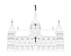 Provo City Center Temple Drawing by YourFullerLife on Etsy