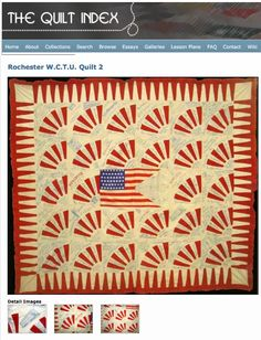Though not made during WW1.. is the type made at this time..Quilt Index Blog » Blog Archive » From Rochester with Love. 1900, Mrs. Addis Elliot