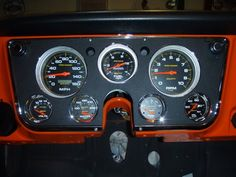 Auto Meter gauges in the factory bezel? The 1947